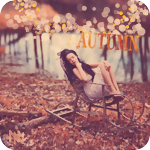 Аватар Девушка сидит в кресле-качалке на берегу осеннего пруда (Autumn / Осень)