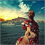 Аватар Модель Наталья Захарова, держит за руку фотографа Мурада Османна, серия фотография Следуй за мной. Испания, Ибица