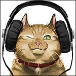 Аватар Кошка слушает музыку в наушниках