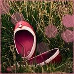 Аватар Розовые женские туфельки-балетки в траве