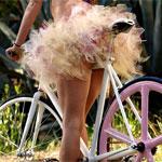 Аватар Девушка с светло-розовой пачке на велосипеде