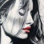 Аватар Портрет девушки в профиль, by Cinzia Pellin