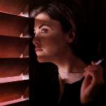 Аватар Одри Хорн / Audrey Horne с сигаретой в руке. Сериал Твин Пикс / Twin Peaks