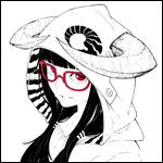 Аватар Рогатая девушка в очках