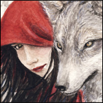 Аватар Девушка в красном плаще и серый волк